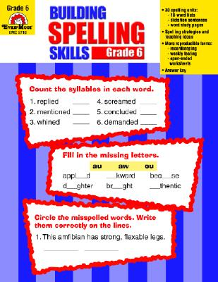 Building Spelling Skills By Evan-Moor (EDT)